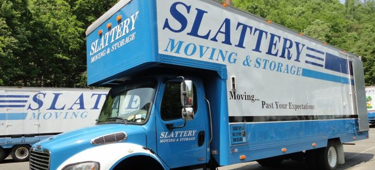 Slattery moving truck, representing residential movers new york