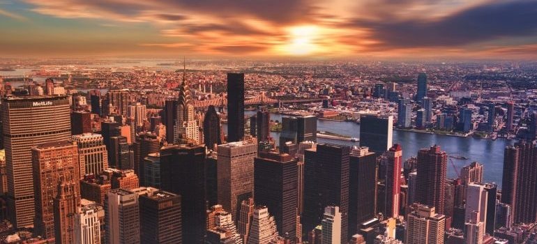 A view of New York City.