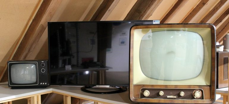 Retro TV on a table