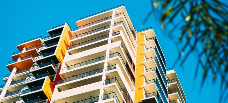 Moving from a large house to a condo can be colorful like beautiful building