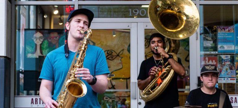 a band playing jazz